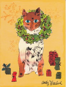 Warhol Christmas cat