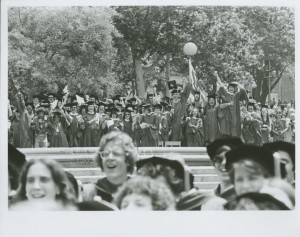 NYU commencement 1977